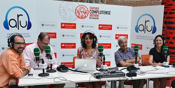 Patricia Martínez participe à l'atelier de radios universitaires espagnoles et latino-américaines tenu à El Escorial
