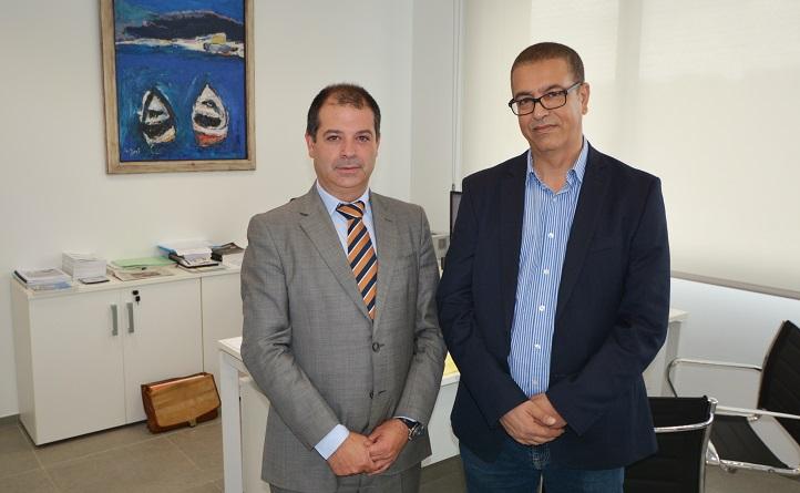 Le professeur Bouzekri Touri, de l'Université Hassan II a visité le campus et ouvert la voie de la collaboration avec l'UNEATLÁNTICO