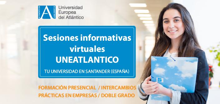 UNEATLANTICO organise des sessions d'informations virtuelles sur les filières qu'elle offre