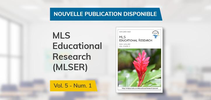 Nouveau numéro de MLS Educational Research, une revue parrainée par UNEATLANTICO