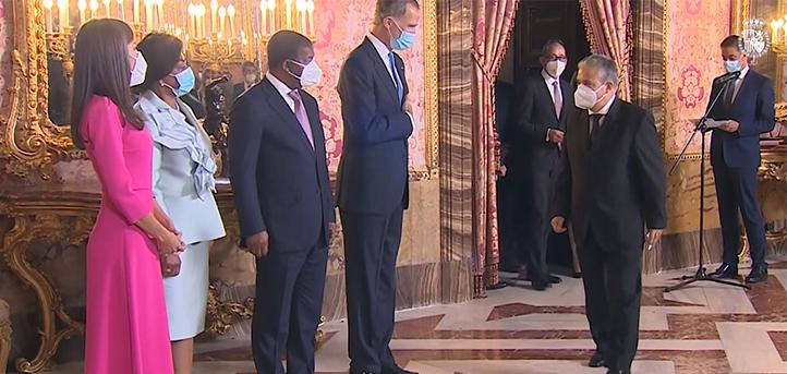 Le président de FUNIBER a assisté à la réception royale en l'honneur du président de l'Angola, pays où sera inaugurée une nouvelle université
